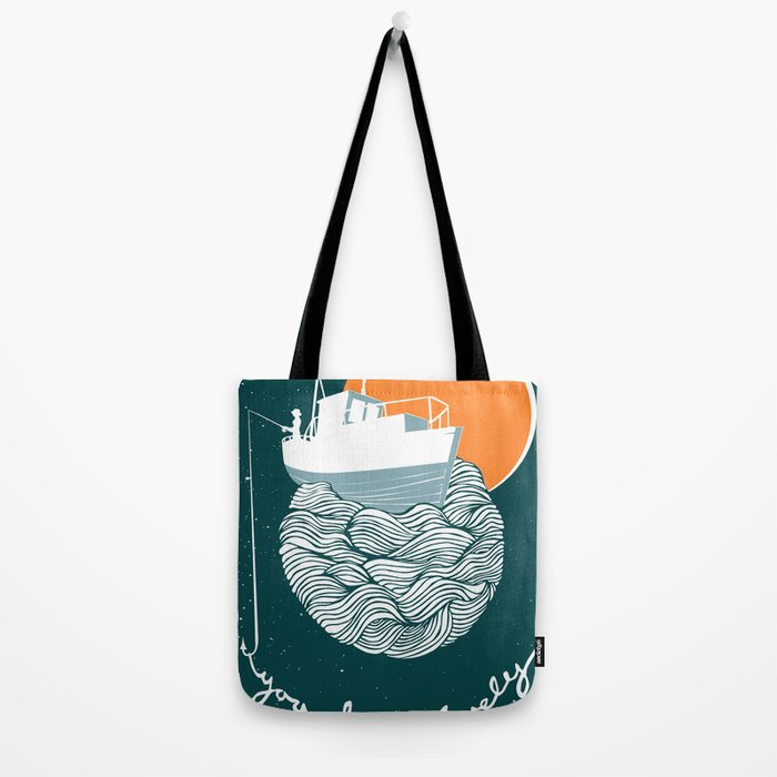 Fishing for Compliments Tote Bag