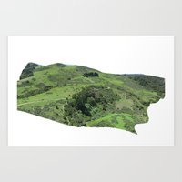 Windy Hill Free Flight Capture Art Print