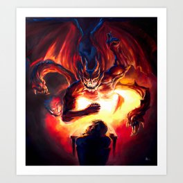 Duel with the Demon Art Print