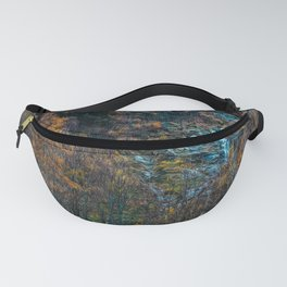 Misty forest in the Alps Fanny Pack