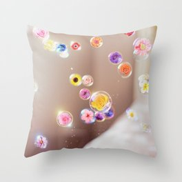 Flower Bubble Throw Pillow