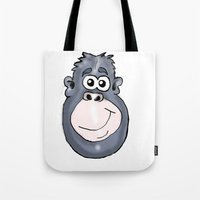 ape Tote Bags featuring Ape by Eric Allen
