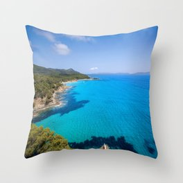 Forever French Riviera Blue Throw Pillow
