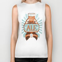 ale giorgini Biker Tanks featuring All Hail Real Ale by Kerry Hyndman