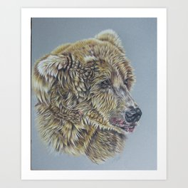 Otis, Golden Bear Art Print