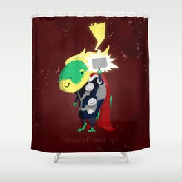 Tyrannothorus Rex - Tyrant King of Thunder Shower Curtain