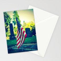 Graveyard flag Stationery Cards