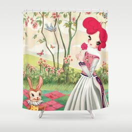 Liselle in Spring Shower Curtain