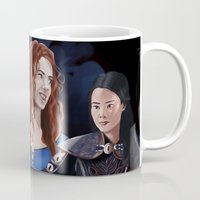 ouat Mugs featuring Warrior Women of OUAT by Christine Ring