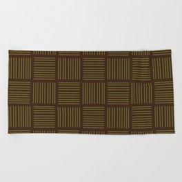 Spirit Mountain Stripe - Brown Beach Towel