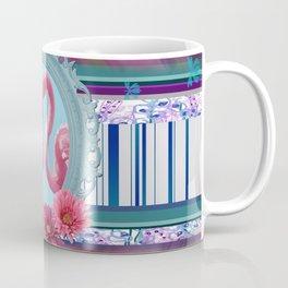 Flamingos in Frame pattern Design Pink violet Coffee Mug