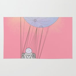 The Moon-Man Floating Through the Pink Universe Rug