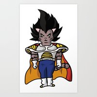 Cat Vegeta Art Print