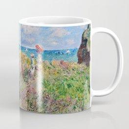 Claude Monet Cliff Walk At Pourville 1882 Coffee Mug