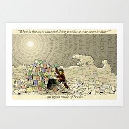 An Igloo Made of Books Art Print