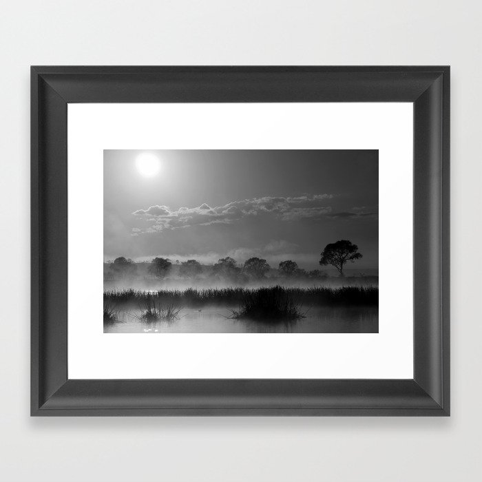 Old Autumn in the Misty Morn Framed Art Print