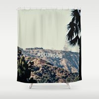 hollywood Shower Curtains featuring Hollywood  by sam may create.
