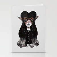werewolf Stationery Cards featuring Werewolf by Leah Jade