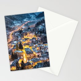 Christmas Village Stationery Cards