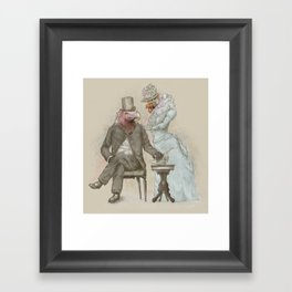 The Cultured Vultures Framed Art Print