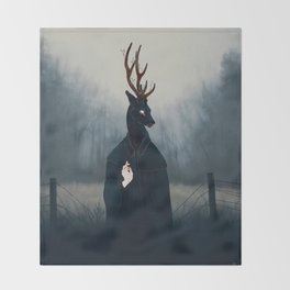Deep Forest Saint Throw Blanket