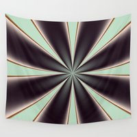ashton irwin Wall Tapestries featuring Fractal Pinch in BMAP01 by Charma Rose