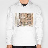 takmaj Hoodies featuring Winter in NYC by takmaj