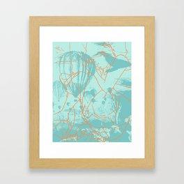 Pacific Ocean Trails Framed Art Print