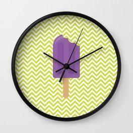 Sorvetinho verde e roxo Wall Clock