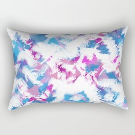 Abstraction . Colorful brush strokes. Rectangular Pillow