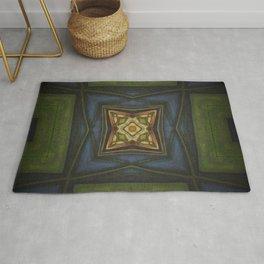 Celtic // Ireland Scotland Irish Green Blue Celt Druid Fairy Avalon Geometric Abstract Design Rug