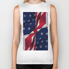 RED, WHITE AND BLUE Biker Tank