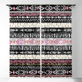 Hand paint tribal Aztec geometric design Blackout Curtain