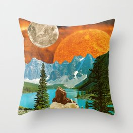 Big mineral Throw Pillow