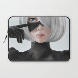 Nier Automata 2b fanart cosplay SesshuAsuak portrait Laptop Sleeve