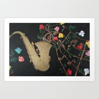 Days of Jazz and Roses Art Print