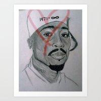 Legends Never Die : Tupac  Art Print