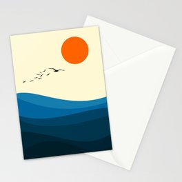 Royal blue ocean Stationery Cards