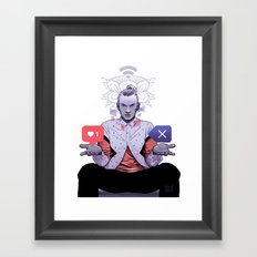 TECHNICAL BOY Framed Art Print