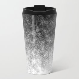 Disappearing Fog - Black and White Gradient Travel Mug