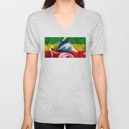Ethiopia Flag Unisex V-Neck