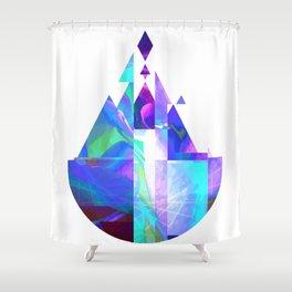 Purple Castle Shower Curtain