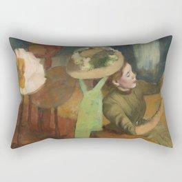 Edgar Degas - The Millinery Shop Rectangular Pillow