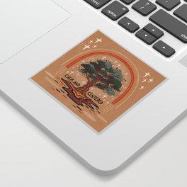 Calm and centered Sticker