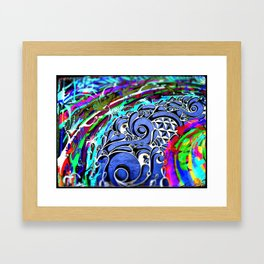 Tripping Over Waves Framed Art Print