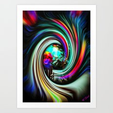 Space and time 7 Art Print