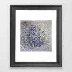 Stone Flower Framed Art Print