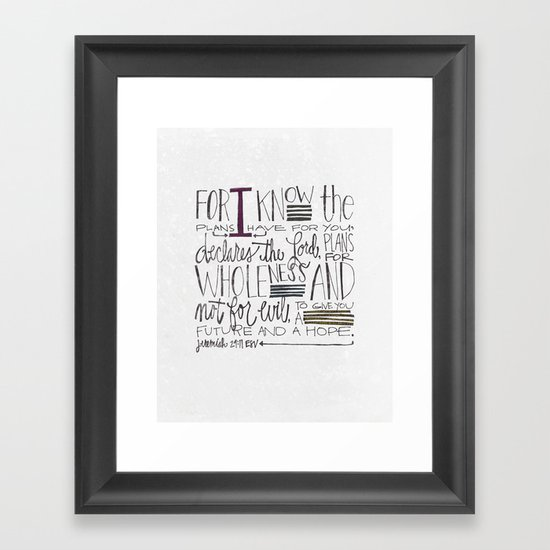 Future and Hope - Jeremiah 29:11 Framed Art Print