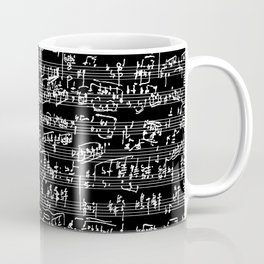 Hand Written Sheet Music // Black Coffee Mug