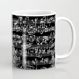 Hand Written Sheet Music // Black Coffee Mug